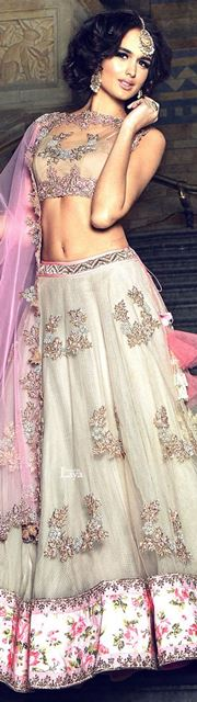 bridal lehengas timeless white and pink_New_Love_Times