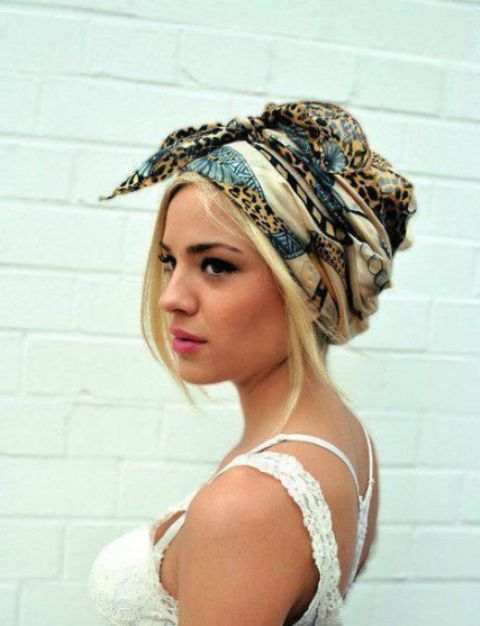 hair hacks cover up bad hair day with a turban_New_Love_Times