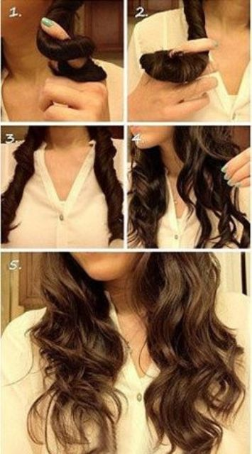 hair hacks no heat curling_New_Love_Times