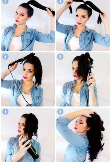 hair hacks super fast curling with divided ponytail_New_Love_Times