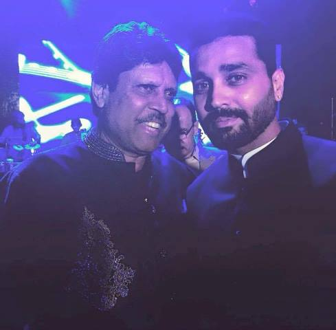 kapil dev with murali vijay at bhajjikishaadi