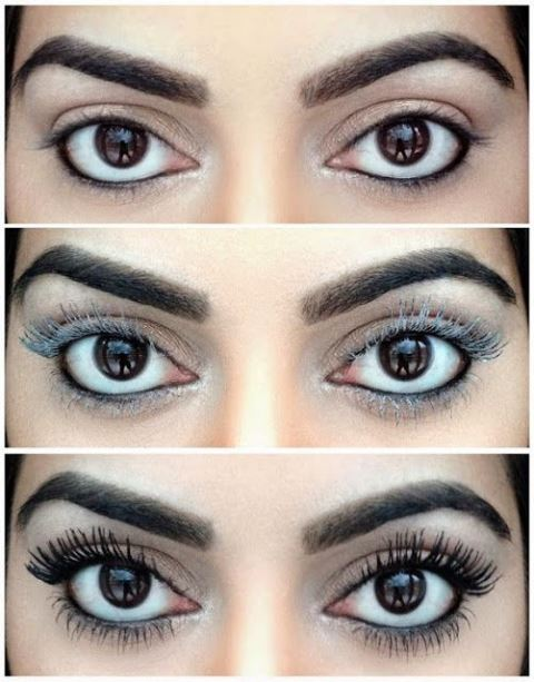 longer lashes with baby powder