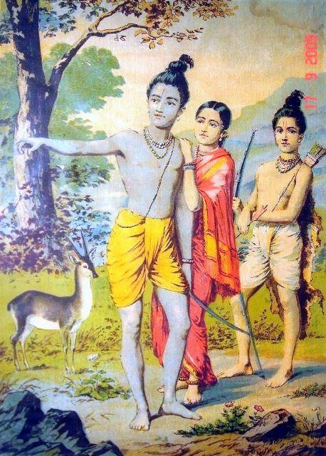 lord rama, sita, and lakshman