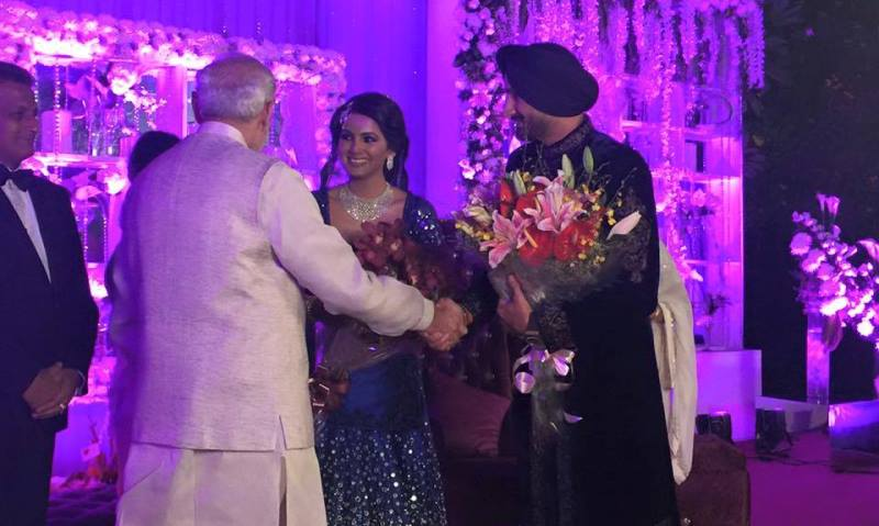 narendra modi greeting harbhajan singh and geeta basra