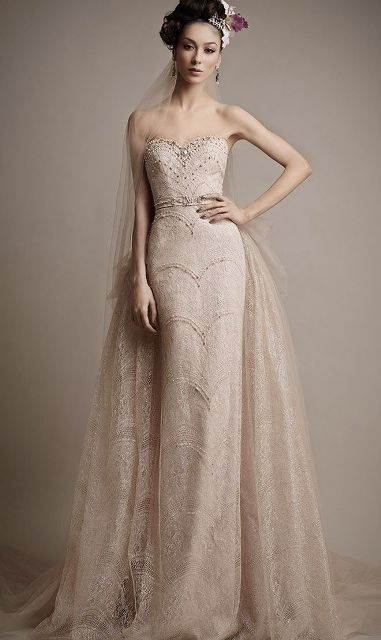 sheer wedding dress ethereal