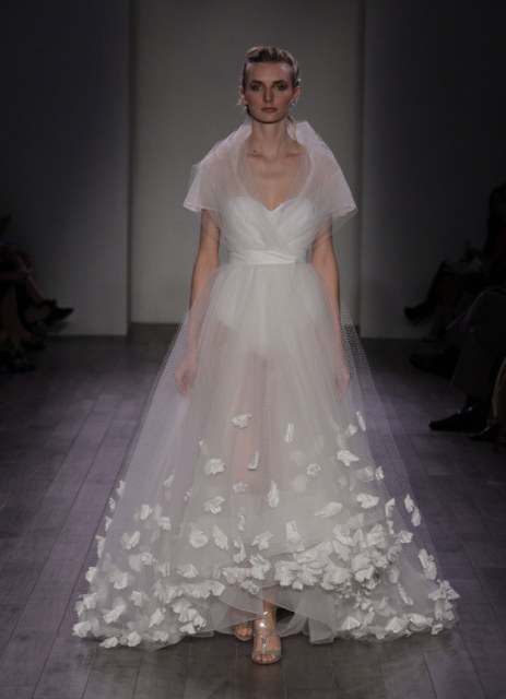 sheer wedding dress royal