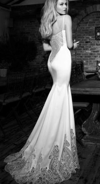 sheer wedding dress silk
