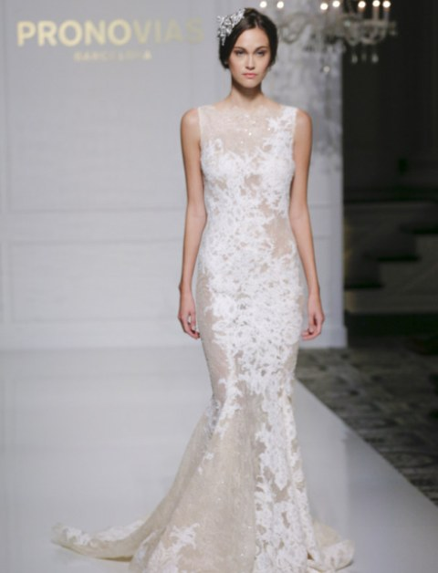 sheer wedding dress structured