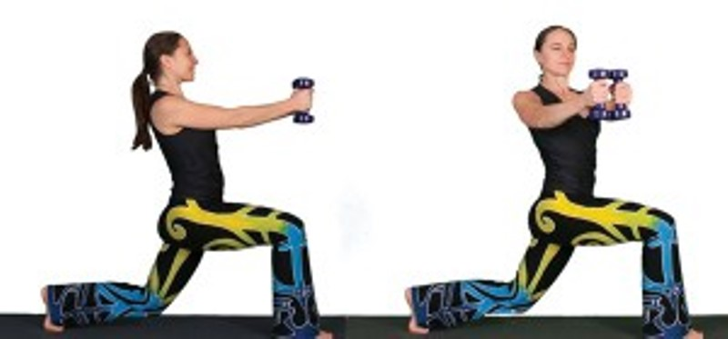 spinal twist lunges