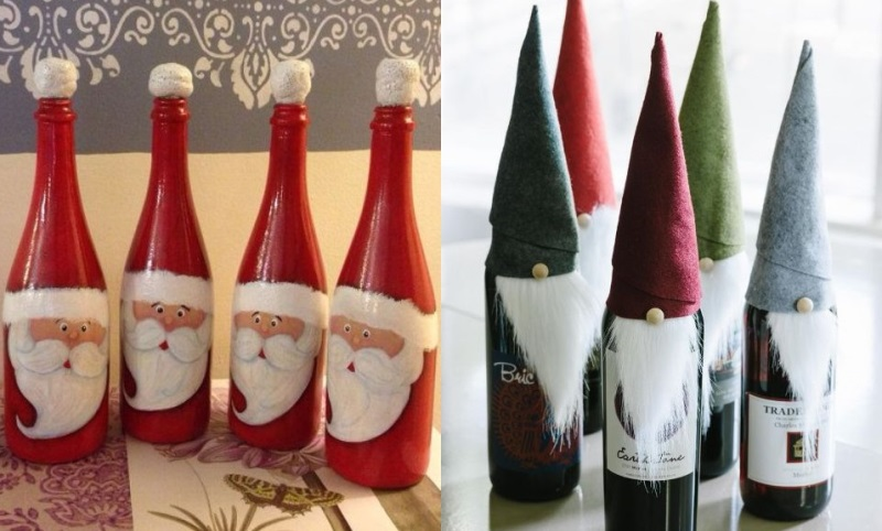 15 diy wine bottle decorations for christmas new love times