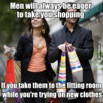 12 Clever Ways To Take Your Man Shopping With You