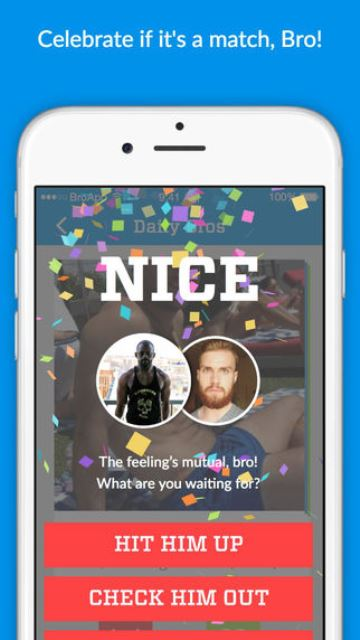 bro app page showing a mutual 'fist bump'_New_Love_Times