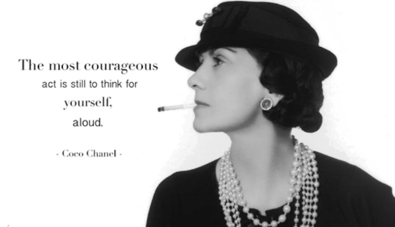 20 brilliant coco chanel quotes to light up your life with wisdom and wit. Black Bedroom Furniture Sets. Home Design Ideas