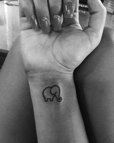 30 tattoos that will make every girl want to get inked for Tiny elephant tattoo