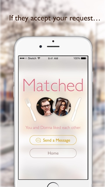 dine dating app page showing two user's matched profiles_New_Love_Times