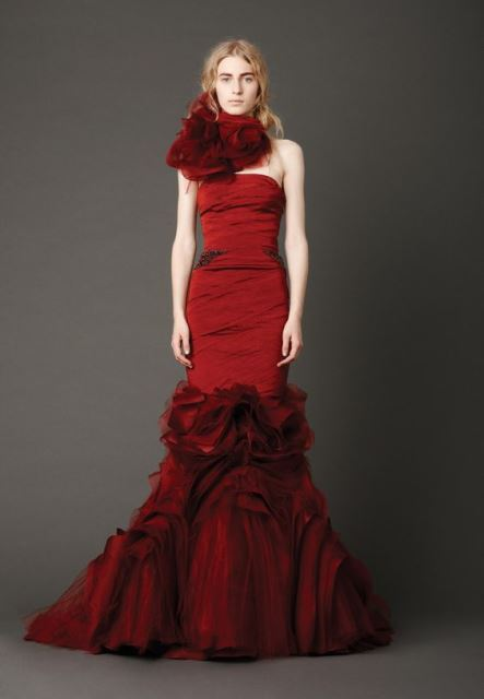 red wedding dresses_New_Love_Times