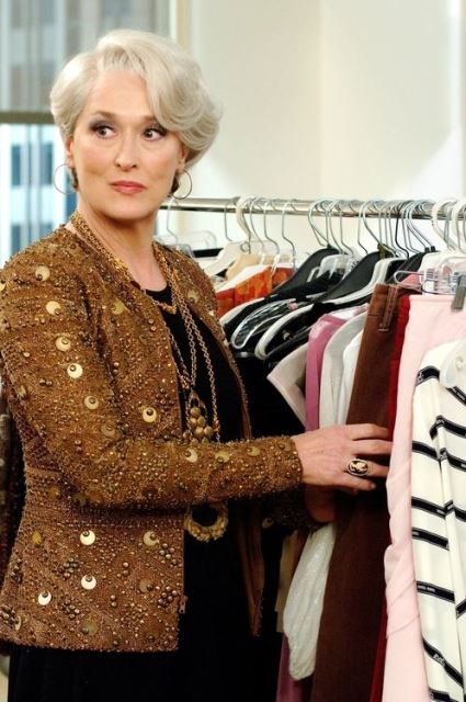 Fashion editor/maven Miranda Priestly (Meryl Streep) is unhappy with the latest designs. PHOTOGRAPHS TO BE USED SOLELY FOR ADVERTISING, PROMOTION, PUBLICITY OR REVIEWS OF THIS SPECIFIC MOTION PICTURE AND TO REMAIN THE PROPERTY OF THE STUDIO. NOT FOR SALE OR REDISTRIBUTION.