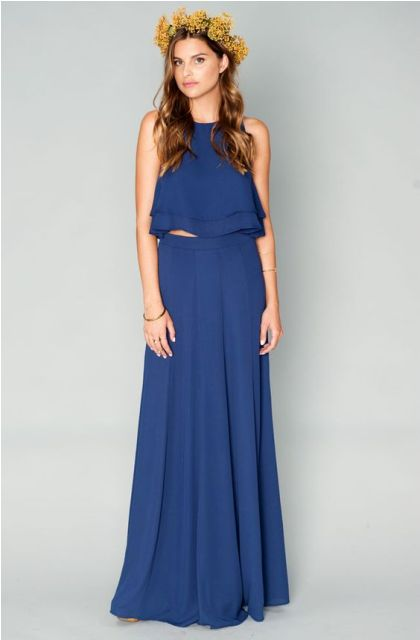 two piece bridesmaid dresses_New_Love_Times