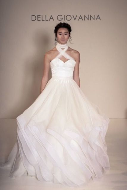 halter neck wedding dresses_New_Love_Times