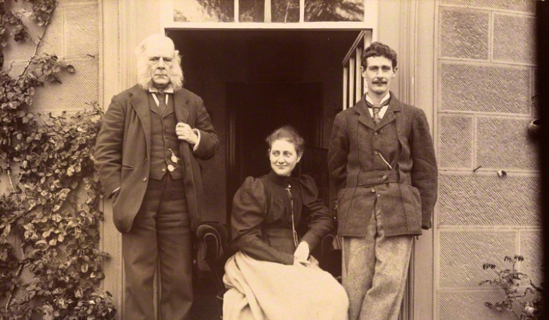 NPG P1822; Rupert Potter; Beatrix Potter (Mrs Heelis); (Walter) Bertram Potter