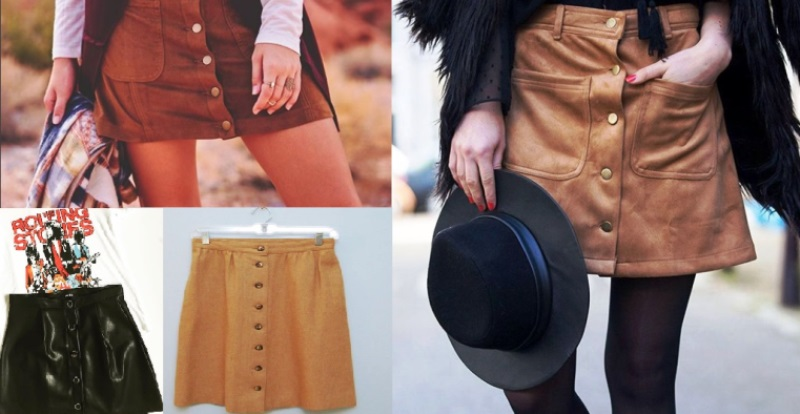 button-front skirts_New_Love_Times
